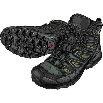 Men's Salomon X Ultra 3 Mid GTX Boots
