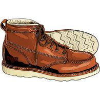 Men's 6'' Contractor's Moc Toe Boots BROWN 9  MED