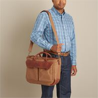 Men's Superior Street Firehose Briefcase BROWN