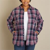 Women's Plus Free Swingin' Lined Flannel Shirt CRE