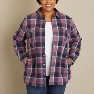 Women's Plus Free Swingin' Lined Flannel Shirt Jac