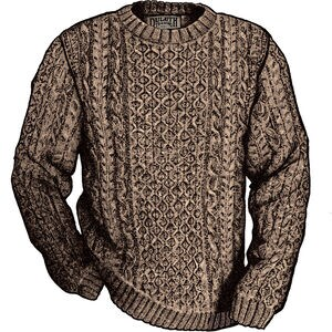 Men's Shetland Wool Cable Sweater