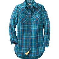 Women's Free Swingin' Flannel Tunic OCBPLAD LRG