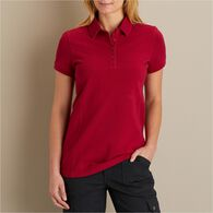 Women's Pique Short Sleeve Polo RED SM