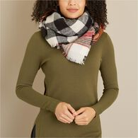 Women's Reversible Plaid Scarf RBLPLAD ONESIZE