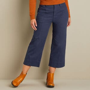 Women's Workday Warrior Chino Wide Leg Crop Pants