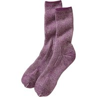 Women's Merino Wool Midweight Boot Crew Socks PURP