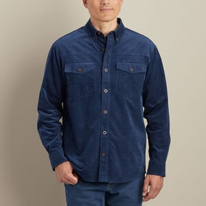 Men's Corduroy Relaxed Fit Long Sleeve Shirt