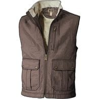 Men's Iron Range Fire Hose Mock Neck Vest COFFEE M