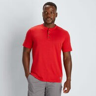 Men's 40 Grit Short Sleeve Henley T-Shirt