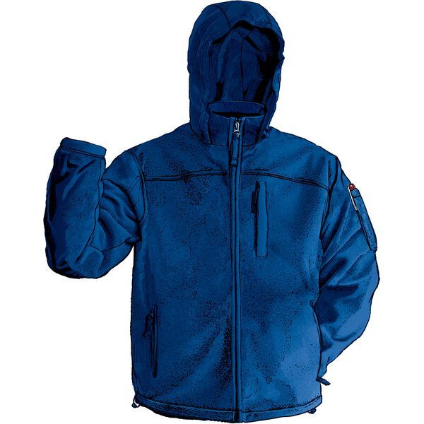 Men's Shoreman's Fleece Hooded Jacket