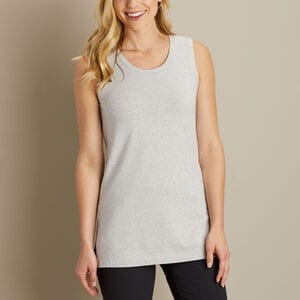 Women's Pima Cotton Willow Knit Tunic Tank