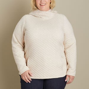 Women's Plus Quilted Sweatshirt Popover