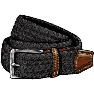 Men's Woven Elastic Stretch Belt