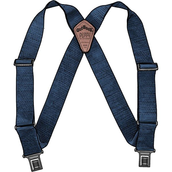 Men's Perry Tall Side clip Suspenders NAVY