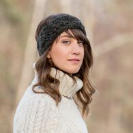 Women's Crochet Flower Headband COFFEE