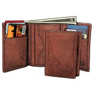Men's Bison Leather Tri-Fold Wallet LOAM