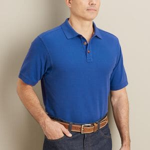 Men's No Polo Relaxed Fit Short Sleeve Shirt