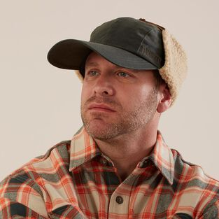 Men's Longbill Waxed Cotton Ear Flap Hat