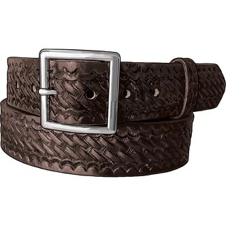 Men's Leather Embossed Braided Service Belt