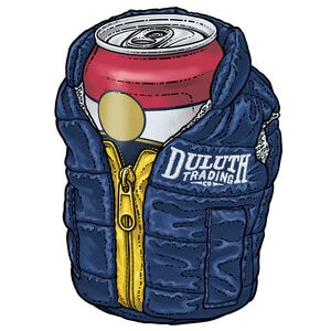 Duluth Trading Puffin Vest Coozie