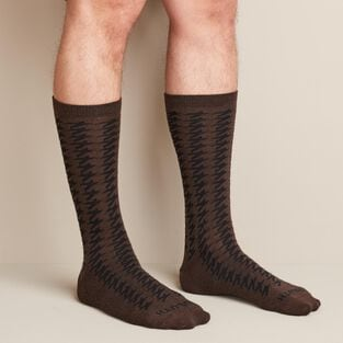 Men's Merino Wool  Lightweight Houndstooth Socks