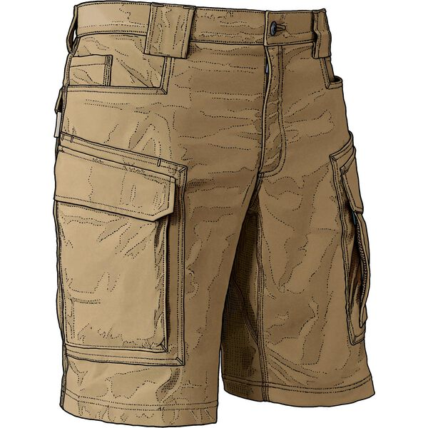 DuluthFlex Mens Dry on the Fly 11-in Cargo Shorts