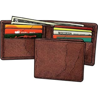 Men's Bison Leather Bi-Fold Wallet LOAM