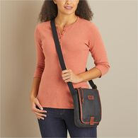 Women's Oil Cloth Mini Sling Bag DRKBRWN