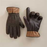 Men's Waxed Canvas Driver Gloves BLACK MED