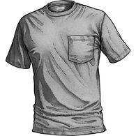 Men's Longtail T Trim Fit T-Shirt with Pocket GRAY