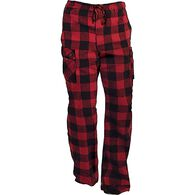 Men's Flannel Cargo Lounge Pants BCRBUFC MED 032