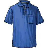 Men's No Polo Short Sleeve Shirt with Pocket COBAL