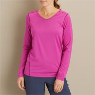 Women's Shunburn Long Sleeve V-Neck Shirt MIDNB