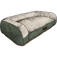 Dog Bed with Bolster BROWN