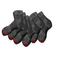 Men's Everyday 6-Pack Midweight Quarter Socks BLAC