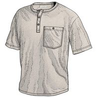 Men's Tri-Brid Short Sleeve Henley with Pocket