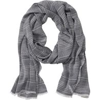 Women's Stripe Scarf NAVY ONE SIZE