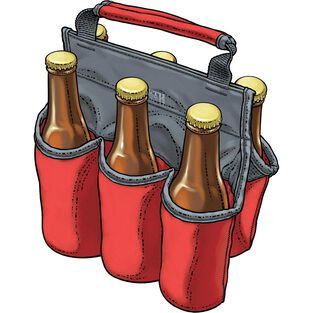 Beer Buddy 6-Pack Carrier RED