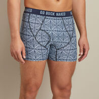 Men's Buck Naked Performance Pattern Short Boxer Briefs