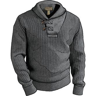 6fdf5612181 Men s High-Neck Infantry Cotton and Wool Sweater