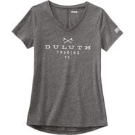 Women's Lightweight Longtail T Slub V-Neck Logo BL