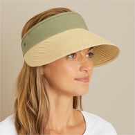 Women's Crusher Straw Packable Visor ANTQGRN ONE S