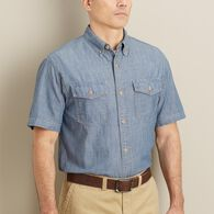 Men's Free Swingin' Chambray Short Sleeve Shirt GR