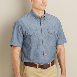 Men's Free Swingin' Chambray Short Sleeve Shirt