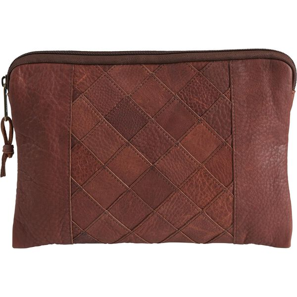 Lifetime Leather Patchwork Pouch BROWN