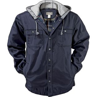 Men's Fire Hose Flannel-Lined Hooded Limber Jac