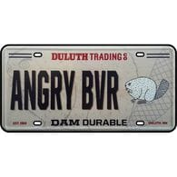 Duluth Trading Angry Beaver License Plate