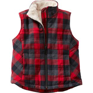 Kid's Quilted Flannel Plaid Vest