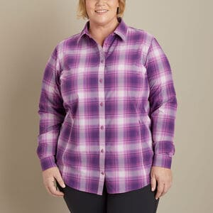Women's Plus Sidewinder Plaid Gardening Shirt